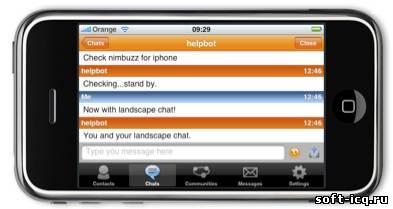 Nimbuzz v.2.2 ICQ для iPhone